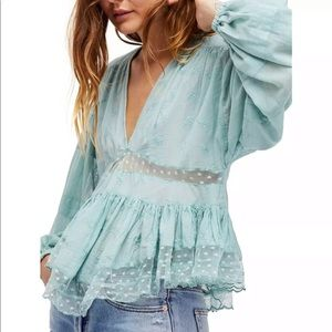 Free People Nostalgic Feels Blouse XS